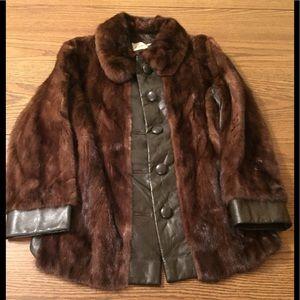 Jackets & Blazers - Vintage Mink - Leather Coat